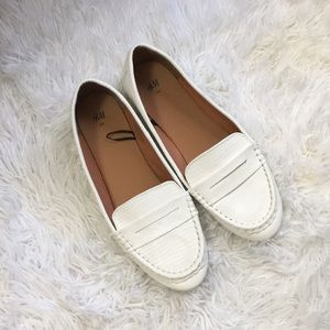 H&M Ivory Loafers